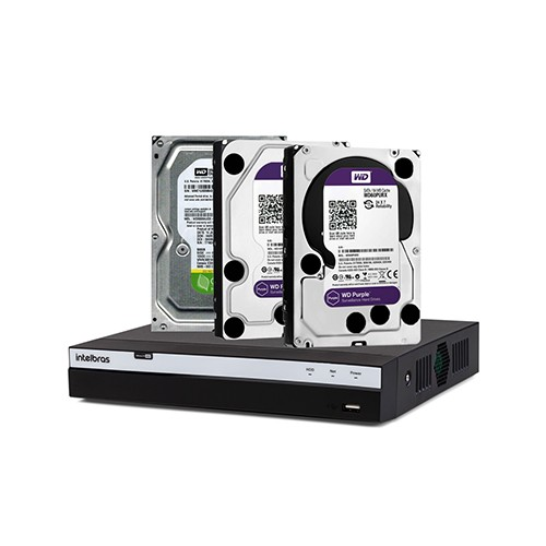 DVR Intelbras MHDX 3116 + Disco Rígido SATA Western Digital 5400 RPM  - Ziko Shop