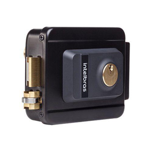 Fechadura elétrica de sobrepor FX 2000 preta Intelbras  - Ziko Shop