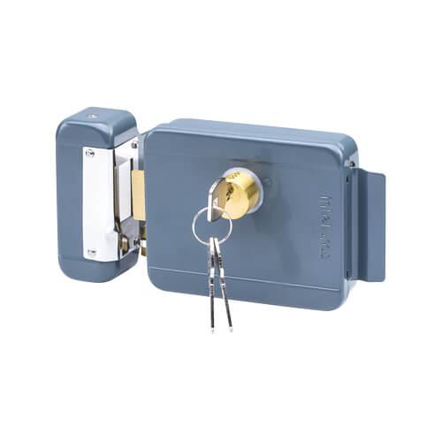 Fechadura Elétrica de Sobrepor Cinza Intelbras FX 2000  - Ziko Shop
