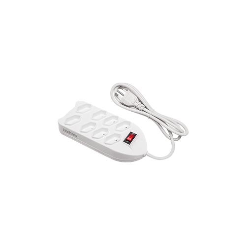 Filtro de Linha Intelbras 8 Tomadas EPE 1008+ Branco  - Ziko Shop