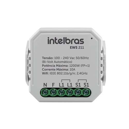 Interruptor Controlador de Cargas Wifi Intelbras EWS 211  - Ziko Shop