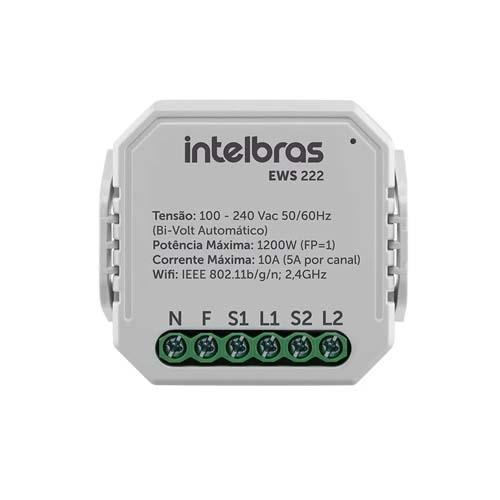 Mini controlador smart Wi-Fi intelbras EWS 222  - Ziko Shop