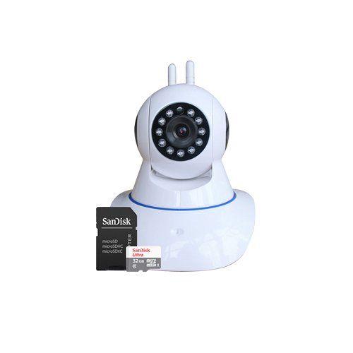 KIT 1 Câmera IP Wireless Robo + 1 Cartão SD 32GB  - Ziko Shop
