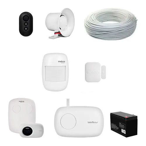 KIT Alarme AMT 2118 EG Intelbras + 2 Sensores sem fio + Acessórios  - Ziko Shop