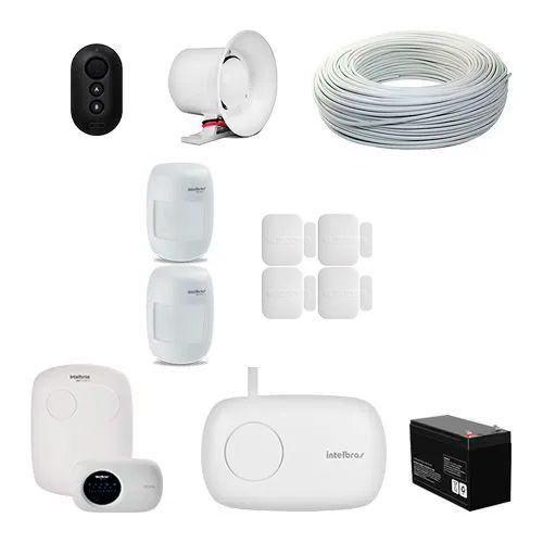 KIT Alarme AMT 2118 EG Intelbras + 6 sensores + Acessórios  - Ziko Shop