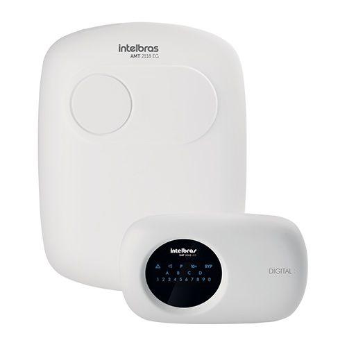 KIT Alarme AMT 2118 EG Intelbras + 8 Sensores sem fio + Acessórios  - Ziko Shop