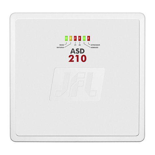 KIT Alarme ASD 210 JFL + 02 sensores c/fio + Acessórios  - Ziko Shop