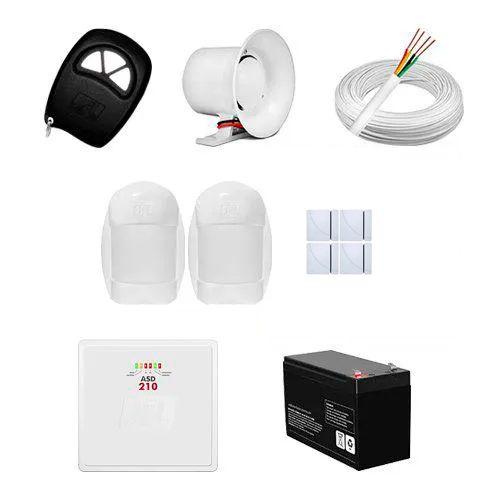 KIT Alarme ASD 210 JFL + 06 sensores c/fio + Acessórios  - Ziko Shop