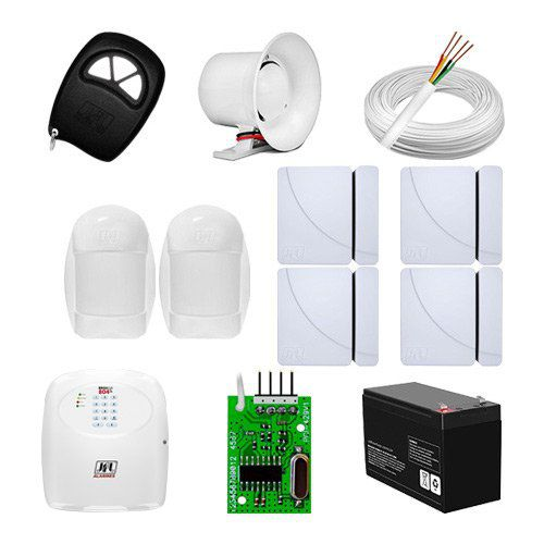 KIT Alarme Brisa Cell 804 JFL + 06 sensores c/fio + Acessórios  - Ziko Shop