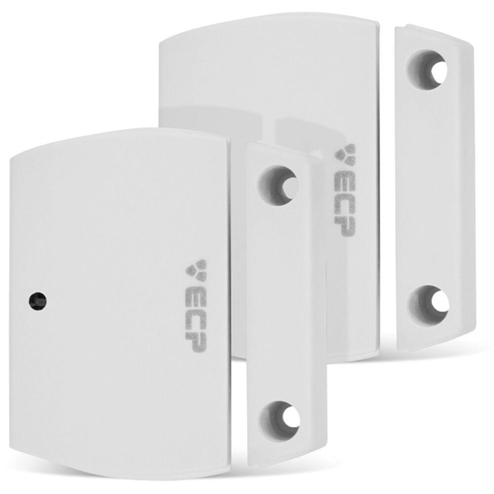 KIT Alarme Central 1 Zona ECP + 1 Sensor Infra Sem Fio + 2 Sensores de Abertura Sem Fio + Acessórios  - Ziko Shop