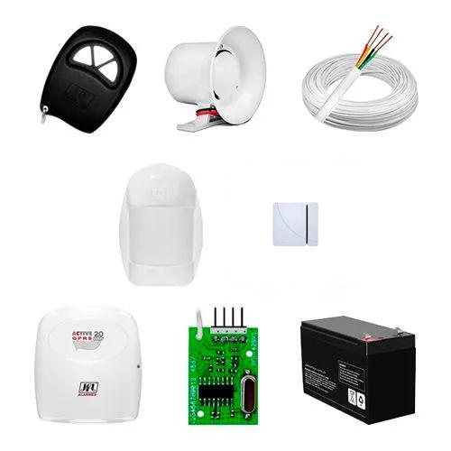 KIT Alarme JFL Active 20 + 02 sensores c/fio + Acessórios  - Ziko Shop