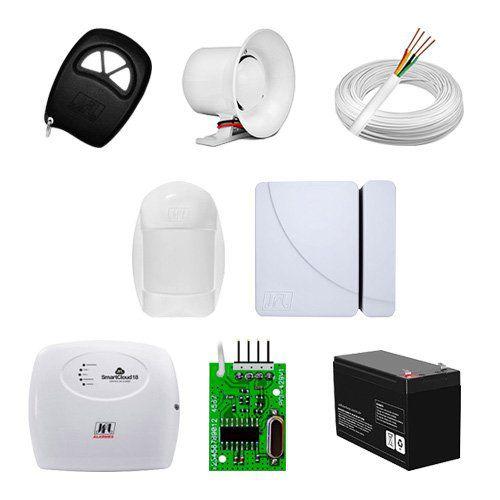 KIT Alarme Smart Cloud 18 JFL + 02 sensores c/fio + Acessórios  - Ziko Shop