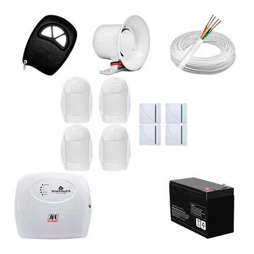 KIT Alarme Smart Cloud 18 JFL + 08 sensores c/fio + Acessórios  - Ziko Shop