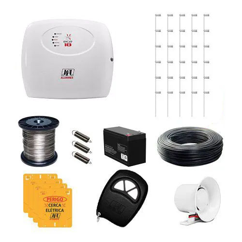 KIT Cerca ECR 18 JFL + 100 Hastes com 6 Isoladores para 200m  - Ziko Shop