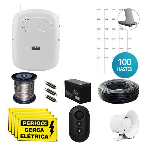 KIT Cerca ELC 5002 Intelbras + 100 Hastes com 6 Isoladores para 200m  - Ziko Shop