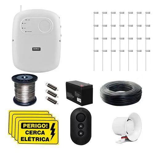 KIT Cerca ELC 5002 Intelbras + 15 Hastes com 4 Isoladores para 30m  - Ziko Shop
