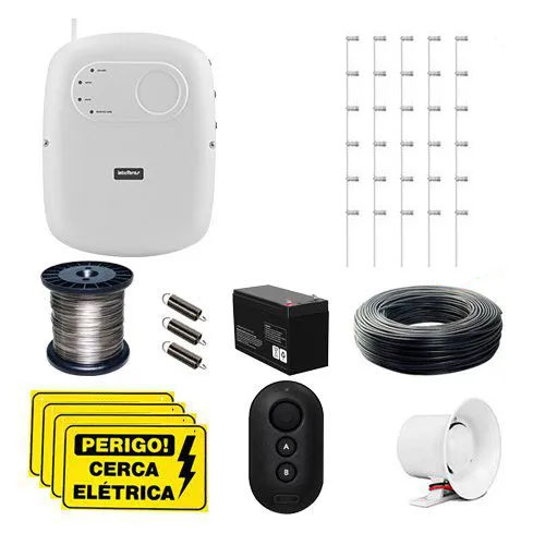 KIT Cerca ELC 5002 Intelbras + 15 Hastes com 6 Isoladores para 30m  - Ziko Shop