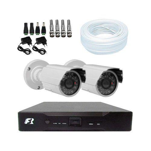 KIT DVR 1080N Focusbras + 2 Câmeras 1200 Linhas + Acessórios  - Ziko Shop