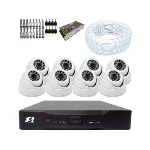 KIT DVR 1080N Focusbras + 8 Câmeras 1200 Linhas Dome + Acessórios  - Ziko Shop