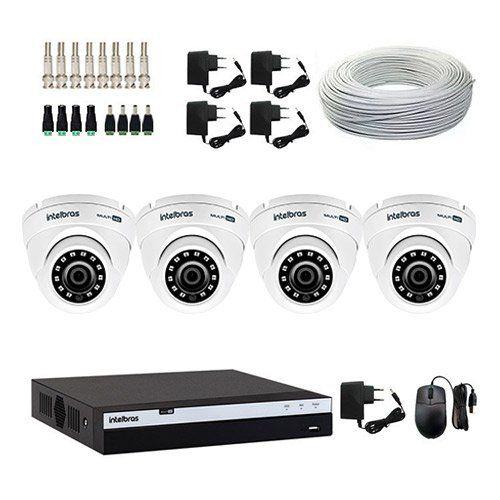 KIT DVR Intelbras Full HD + 4 Câmeras VHD 3220 D G4 Full HD + Acessórios  - Ziko Shop