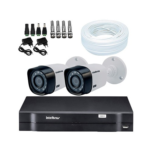 KIT DVR Intelbras + 2 Câmeras VHD 1010 B G4 + Acessórios  - Ziko Shop
