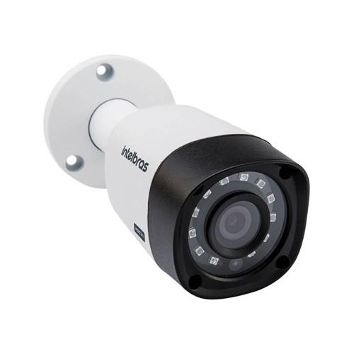 KIT DVR Intelbras MHDX + 4 Câmeras VHD 1120 B G4 + HD + Acessórios. (Instale você mesmo)  - Ziko Shop