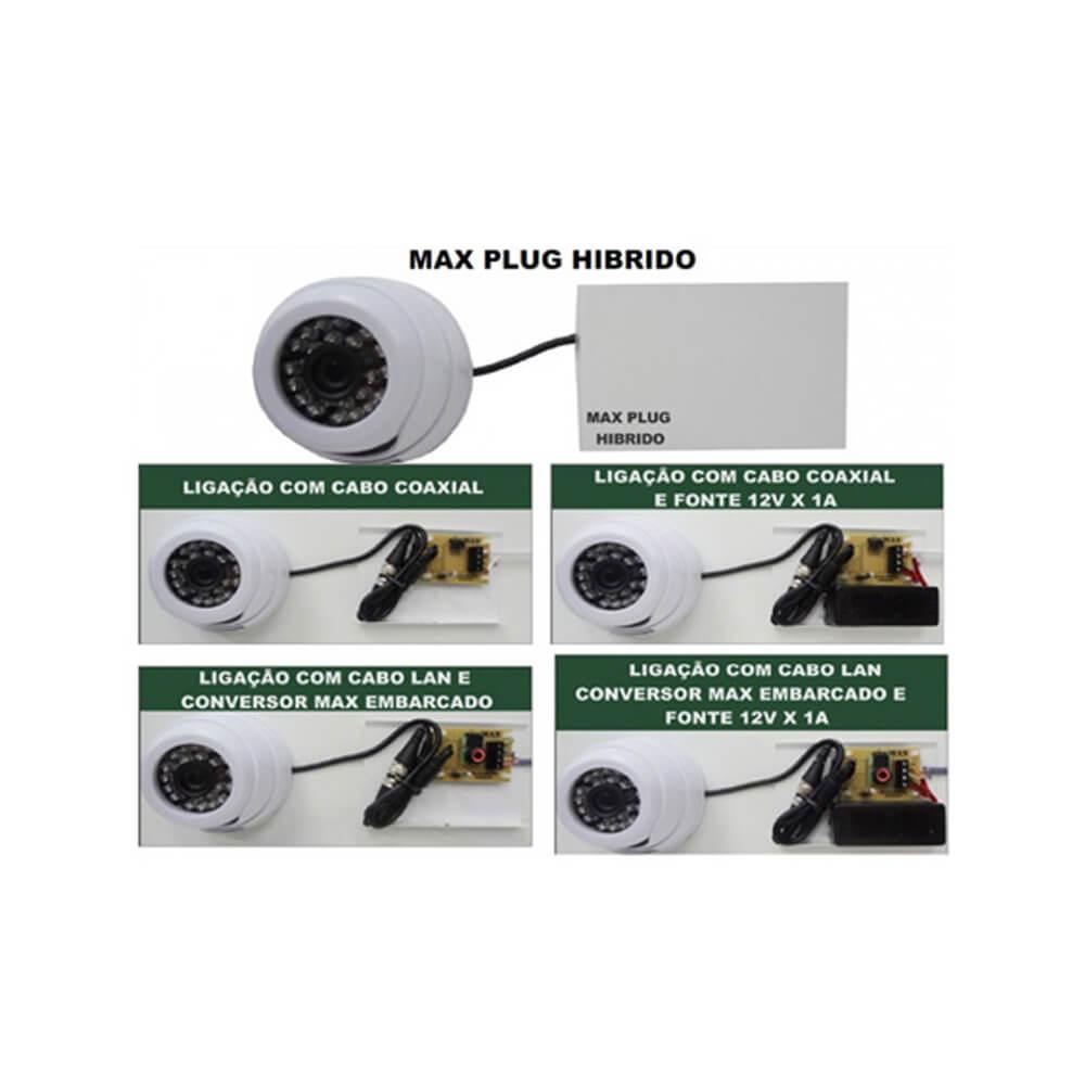 Max Plug Hibrido - MAX ELETRON com fonte 12V / 1A - 2040  - Ziko Shop