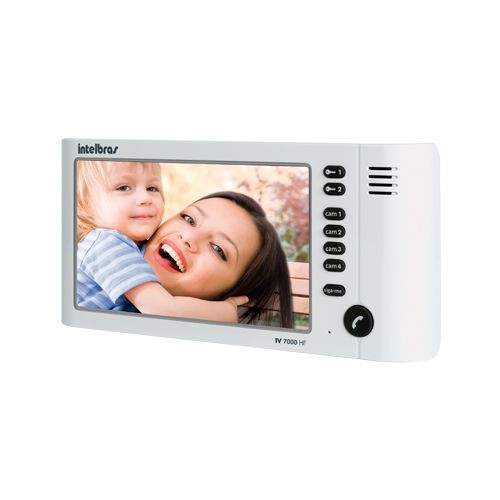 Módulo Interno Vídeo Porteiro Intelbras IV 7000 HF IN - Branco  - Ziko Shop