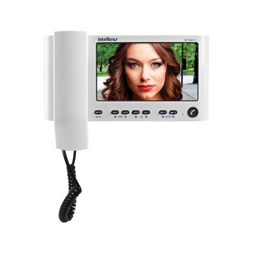 Módulo Interno Vídeo Porteiro Intelbras IV 7000 HS IN - Branco  - Ziko Shop
