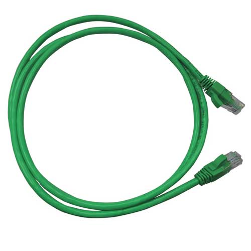 Patch Cord CAT5e UTP CM 1,5 metros verde - Nexans  - Ziko Shop