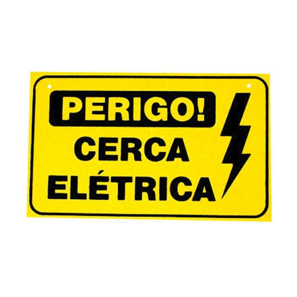 Placa de Advertência Cerca Elétrica de Plástico  - Ziko Shop