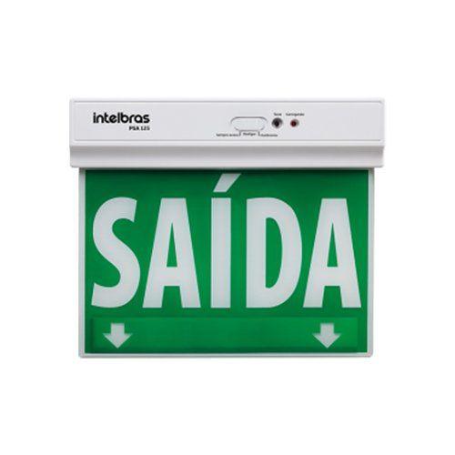 Placa de sinalização face única PSA 125 Intelbras  - Ziko Shop