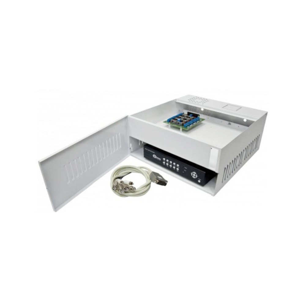 Rack Mini Iron House Onix Security, 4 Canais HD (HDCVI / HDTVI) - (Cod. 2994)  - Ziko Shop