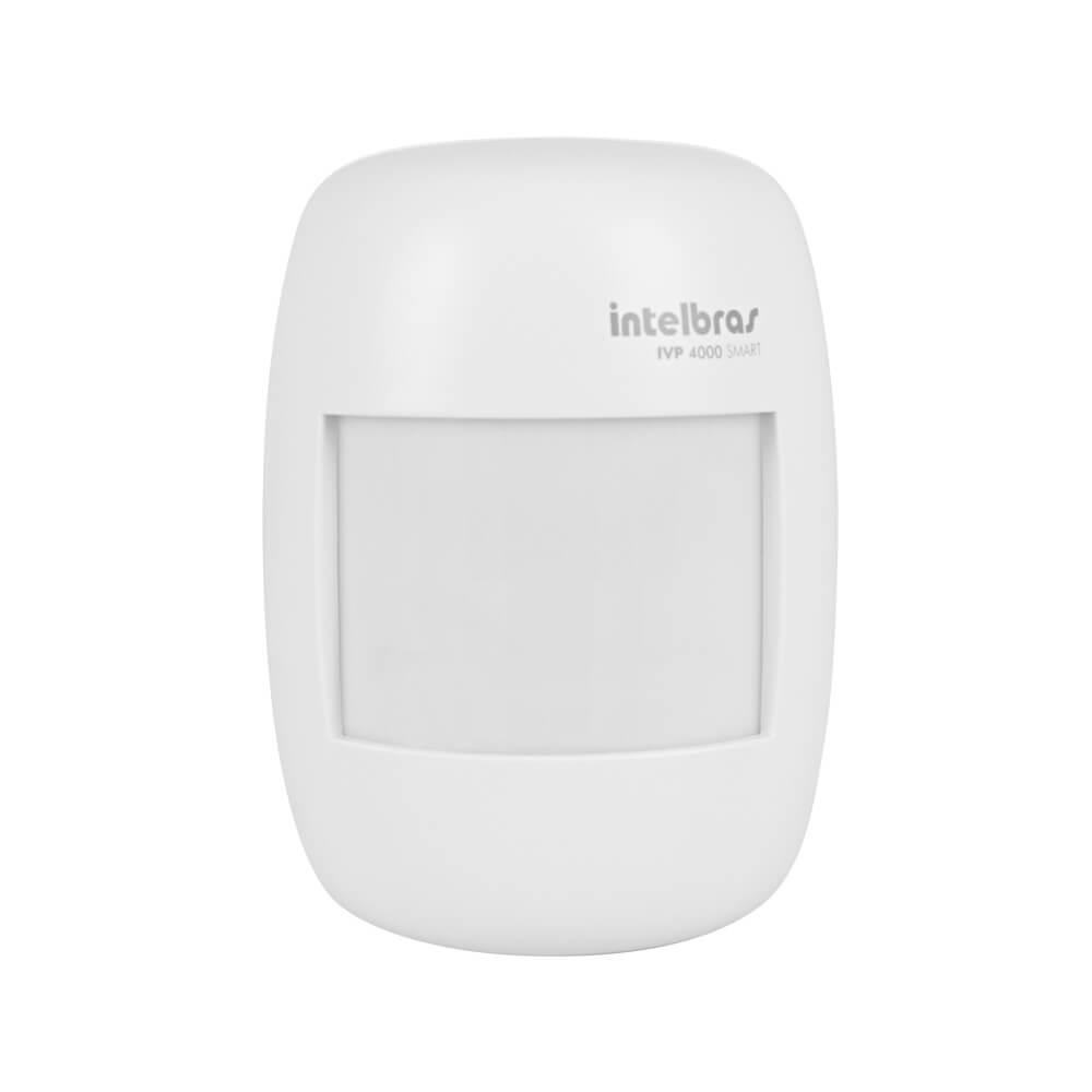 Sensor sem fio Intelbras IVP 4000 SMART infravermelho passivo até 12 metros ângulo 115°  - Ziko Shop