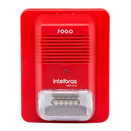 Sinalizador audiovisual endereçável SAV 520E Intelbras   - Ziko Shop