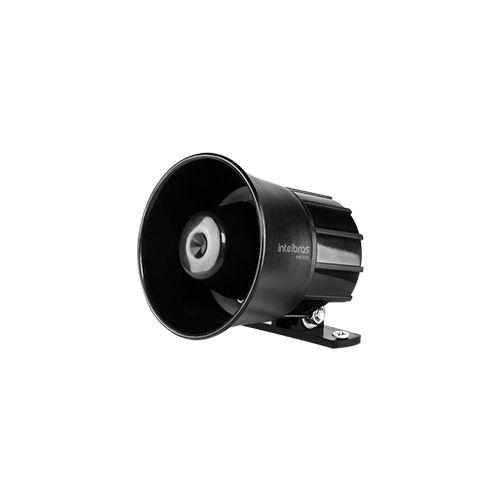 Sirene Intelbras com Fio SIR 1000 Preta 9 a 15 VDC/105 dB  - Ziko Shop