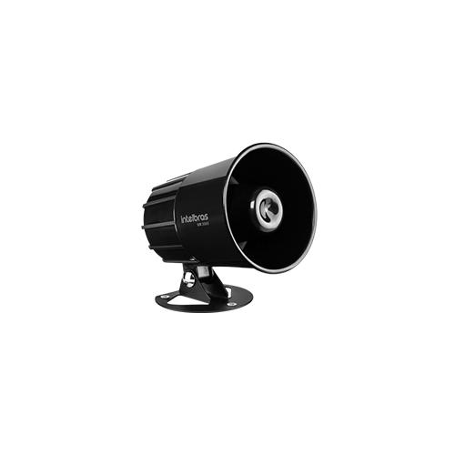 Sirene Intelbras com Fio SIR 2000 Preto 9 a 15 VDC/115 dB  - Ziko Shop