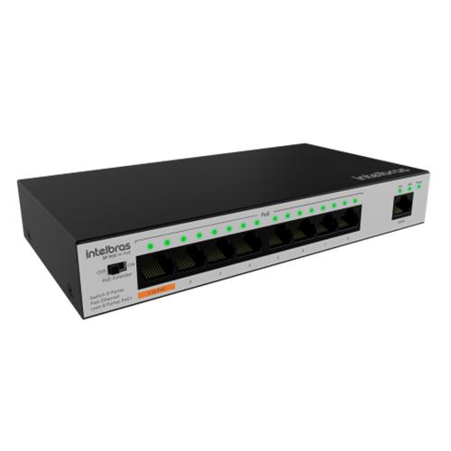 Switch 9 portas Intelbras SF 900 Hi-PoE Fast Ethernet 8 portas PoE+  - Ziko Shop