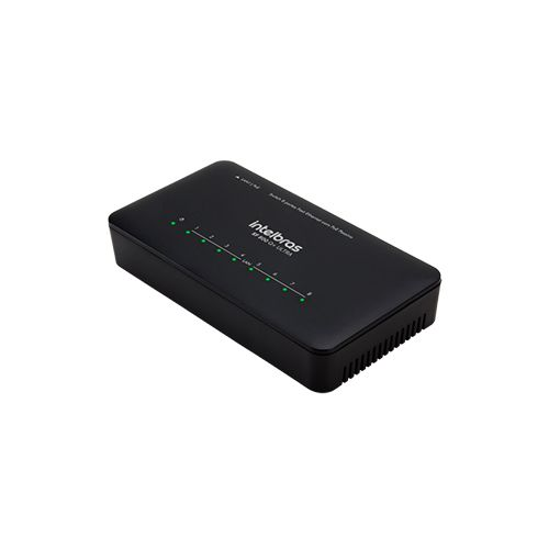 Switch Desktop Intelbras SF 800 Q+ Ultra 08 Portas Fast Ethernet com Antissurto POE  - Ziko Shop