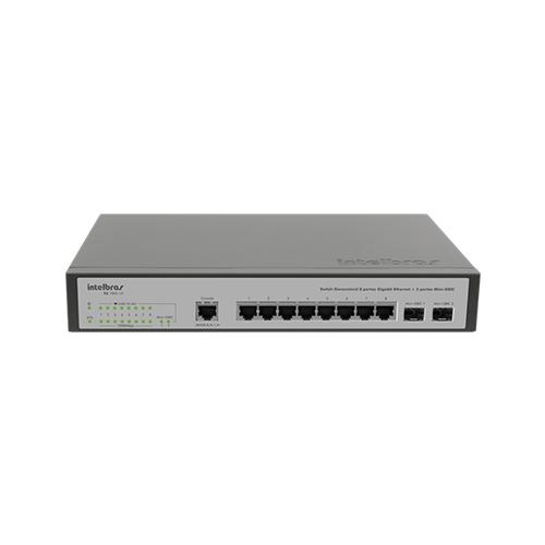 Switch Gerenciável Intelbras SG 1002 MR L2+ 8 Portas Giga + 2 Portas Mini-Gbic  - Ziko Shop