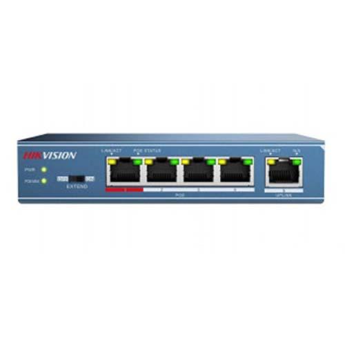 Switch Hikvision 5 Portas POE DS-3E0105P-E/M  - Ziko Shop