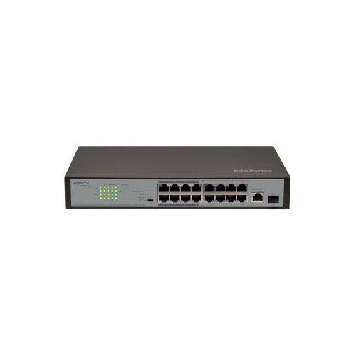 Switch Intelbras 16P SF 1811 PoE Fast PoE com 1P Gigabit e 1P SFP  - Ziko Shop