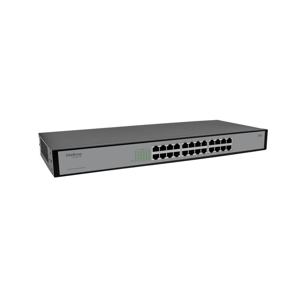 Switch Intelbras SF 2400 QR+ (Mais), 24 Portas Fast Ethernet  - Ziko Shop