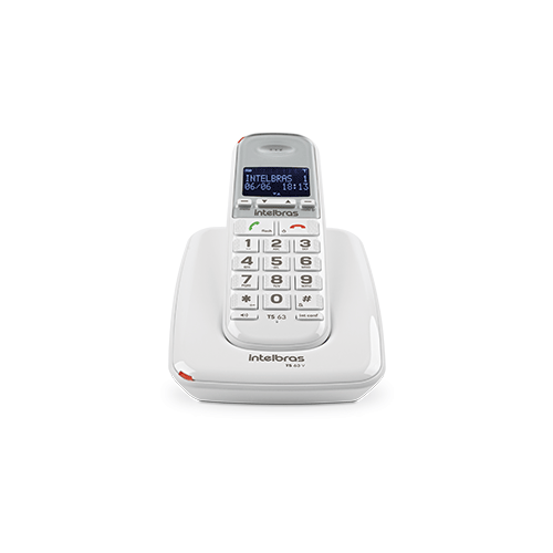Telefone sem fio digital Branco TS 63 V Intelbras  - Ziko Shop
