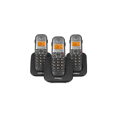 Telefone sem fio digital com ramal adicional Intelbras TS 5123  - Ziko Shop