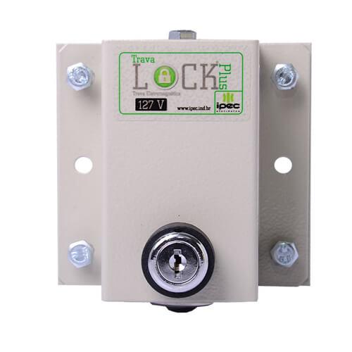 Trava Eletromagnética Lock Plus IPEC Para Portão Eletrônico + Temporizador  - Ziko Shop