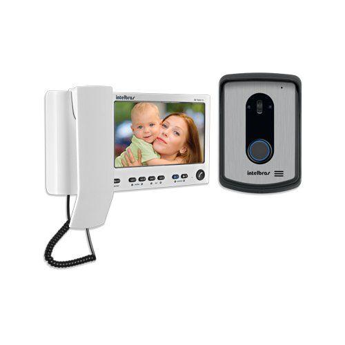 Vídeo Porteiro Intelbras IV 7010 HS com Monofone - Branco  - Ziko Shop