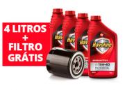 Kit de 4 litros de óleo 15W40 semissintético + Filtro de óleo Grátis