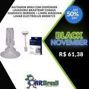 Agitador 8Pas Com Dispenser Lavadora Brastemp Consul 326050331 Burdog e Limpa Máquina Lavar Electrolux 80000723