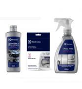 Kit Limpa Inox e Polidor Inox  e Limpa Máquina Electrolux